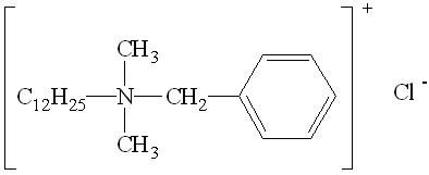 十二烷基二甲基苄基氯化铵杀菌剂分子式